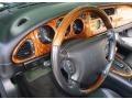 1997 Jaguar XK Charcoal Interior Steering Wheel Photo