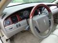 2005 Lincoln Town Car Medium Light Stone/Dark Stone Interior Steering Wheel Photo