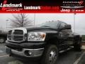 2009 Brilliant Black Crystal Pearl Dodge Ram 3500 Big Horn Edition Quad Cab 4x4 Dually  photo #1
