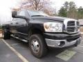 2009 Brilliant Black Crystal Pearl Dodge Ram 3500 Big Horn Edition Quad Cab 4x4 Dually  photo #4