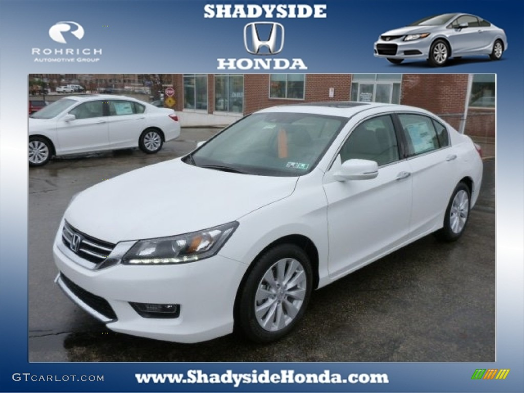 2014 white orchid pearl honda accord ex l v6 sedan for 2014 honda accord white