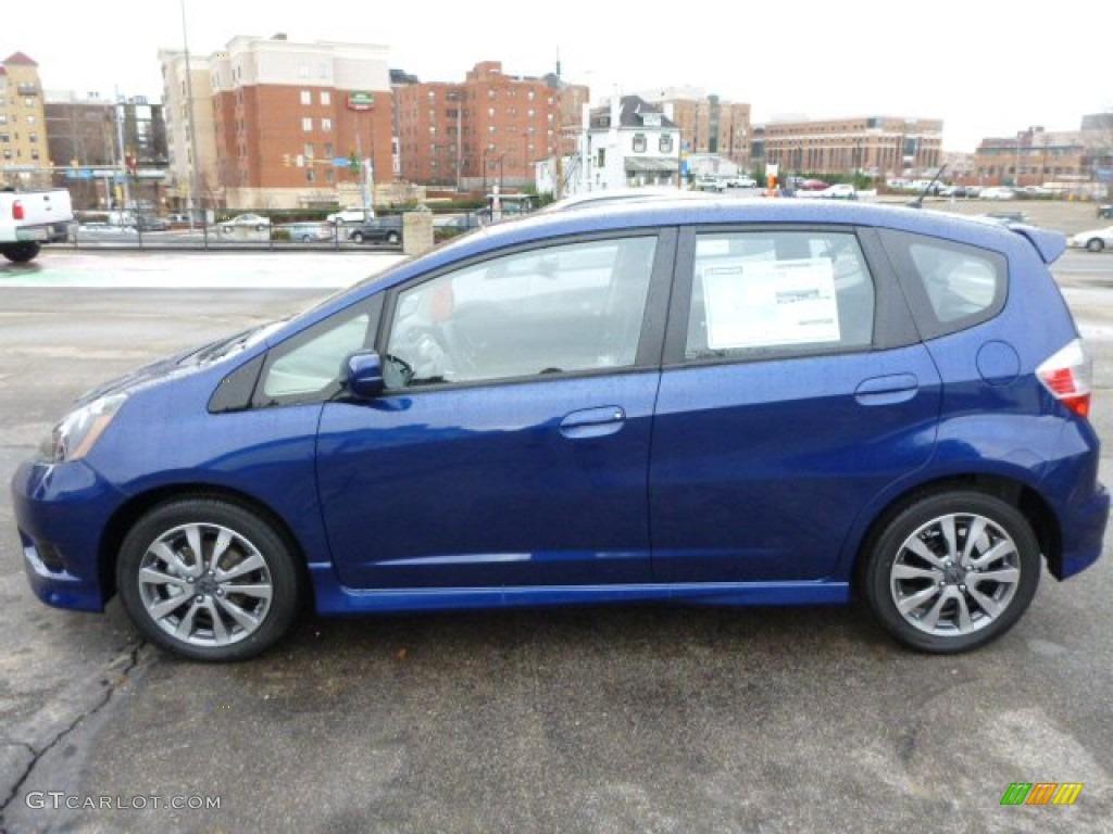 Vortex Blue Pearl 2013 Honda Fit Sport Exterior Photo