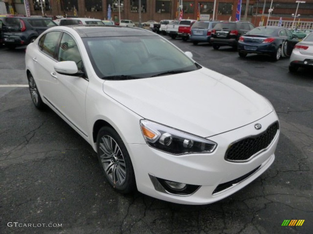 snow white pearl 2014 kia cadenza premium exterior photo. Black Bedroom Furniture Sets. Home Design Ideas