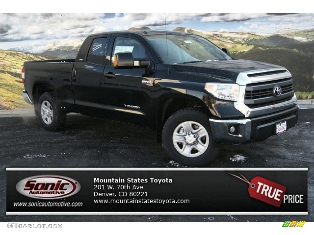 2014 Tundra SR5 Double Cab 4x4 - Black / Graphite photo #1