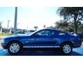 2009 Vista Blue Metallic Ford Mustang V6 Coupe  photo #2