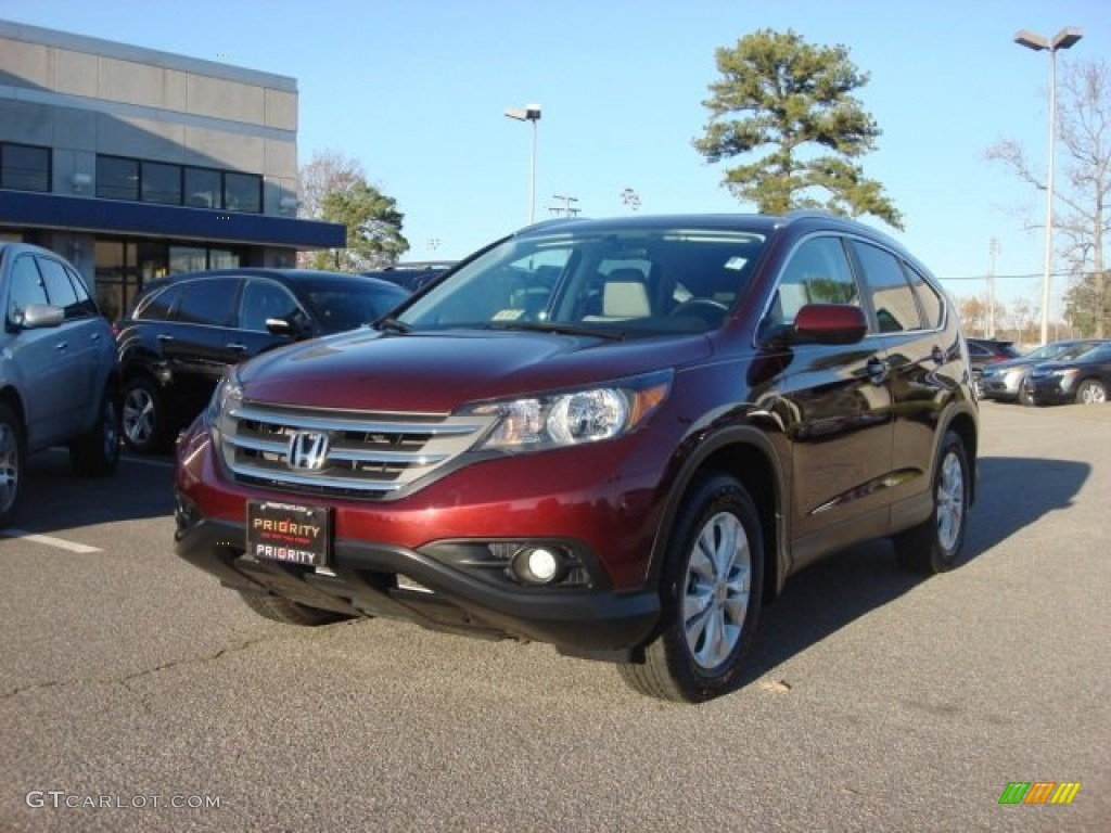 2012 CR-V EX-L - Basque Red Pearl II / Beige photo #1