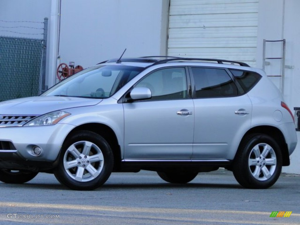 2007 Murano SL - Brilliant Silver Metallic / Charcoal photo #30