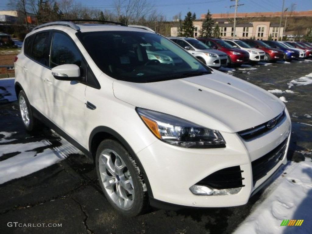 2014 Escape Titanium 2.0L EcoBoost 4WD - White Platinum / Charcoal Black photo #1
