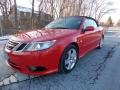 Laser Red 2009 Saab 9-3 2.0T Convertible