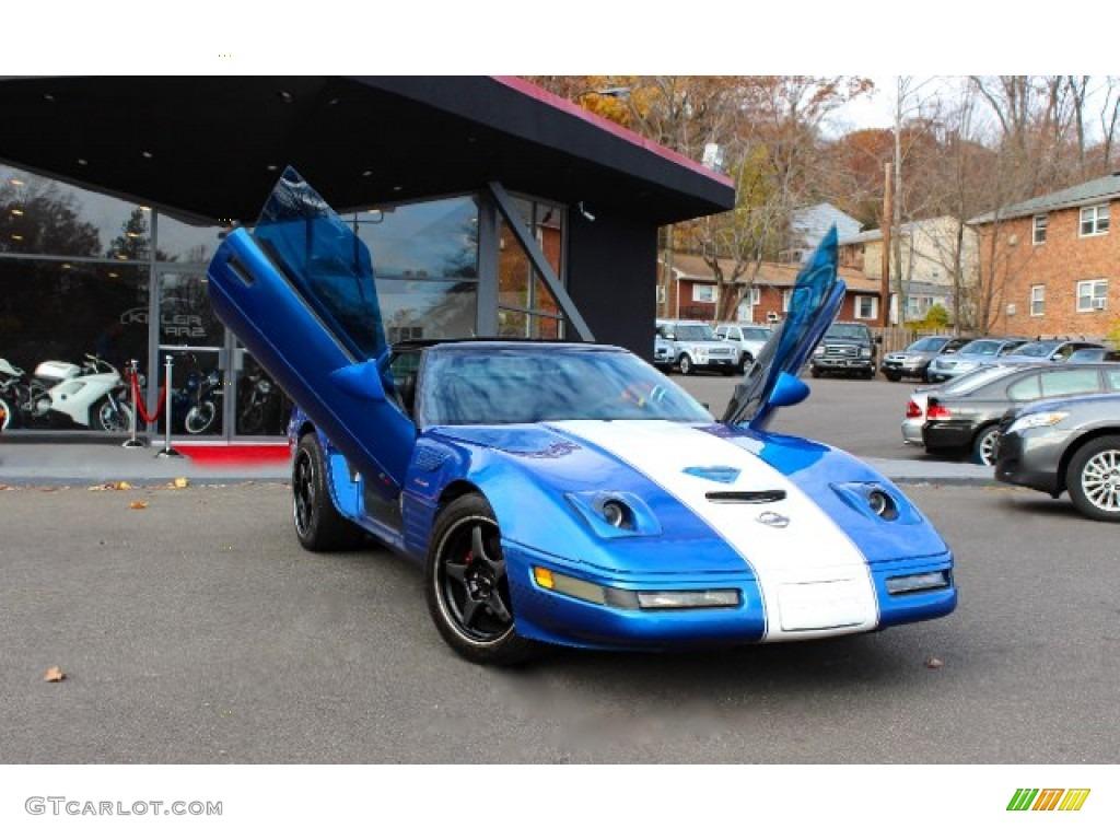 1991 Quasar Blue Metallic Chevrolet Corvette Coupe #88817963