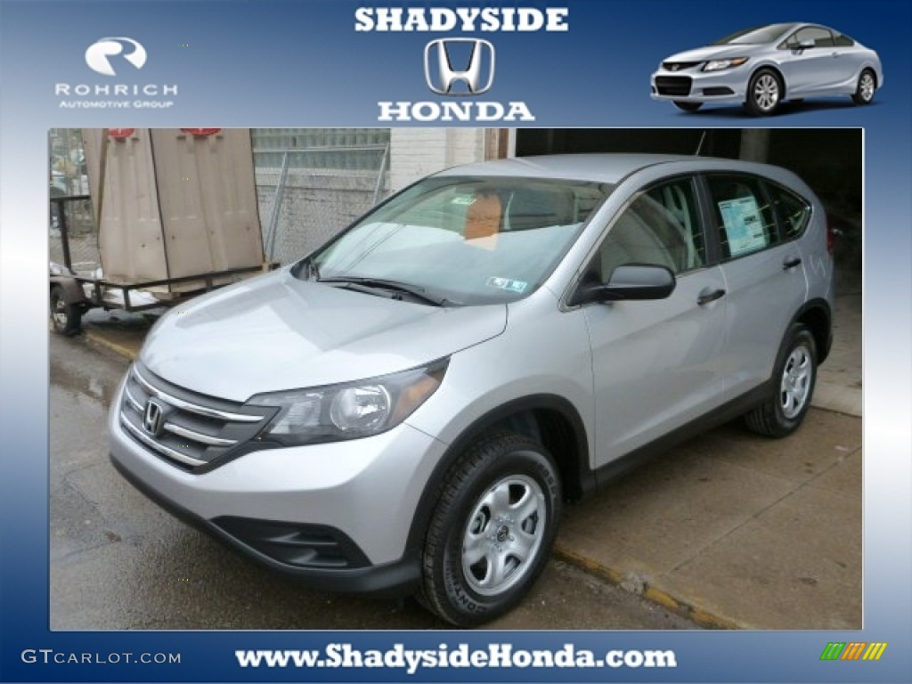 2014 CR-V LX AWD - Alabaster Silver Metallic / Gray photo #1