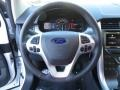 SEL Appearance Charcoal Black Leather/Gray Alcantara Steering Wheel Photo for 2014 Ford Edge #88956914