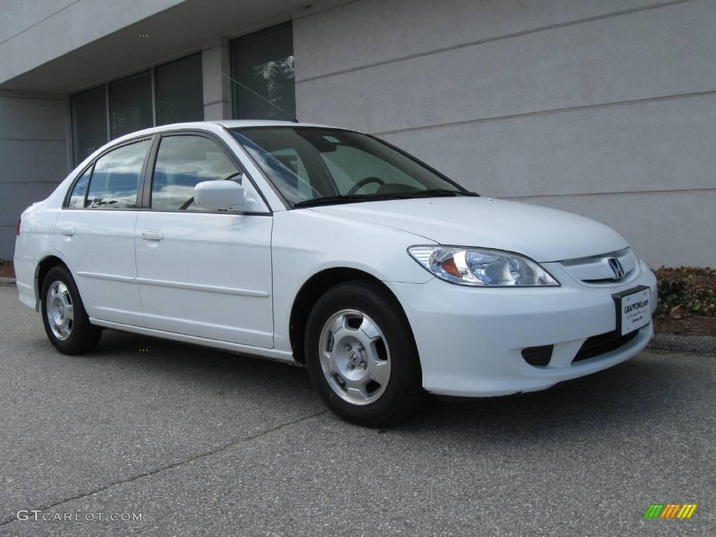 Taffeta White Honda Civic Hybrid Sedan