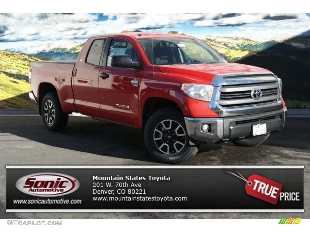 2014 Tundra SR5 Double Cab 4x4 - Radiant Red / Sand Beige photo #1