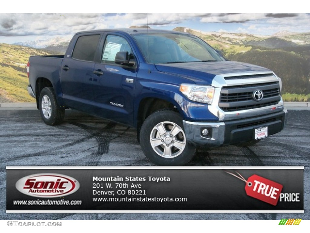 2014 Tundra SR5 Crewmax 4x4 - Blue Ribbon Metallic / Sand Beige photo #1
