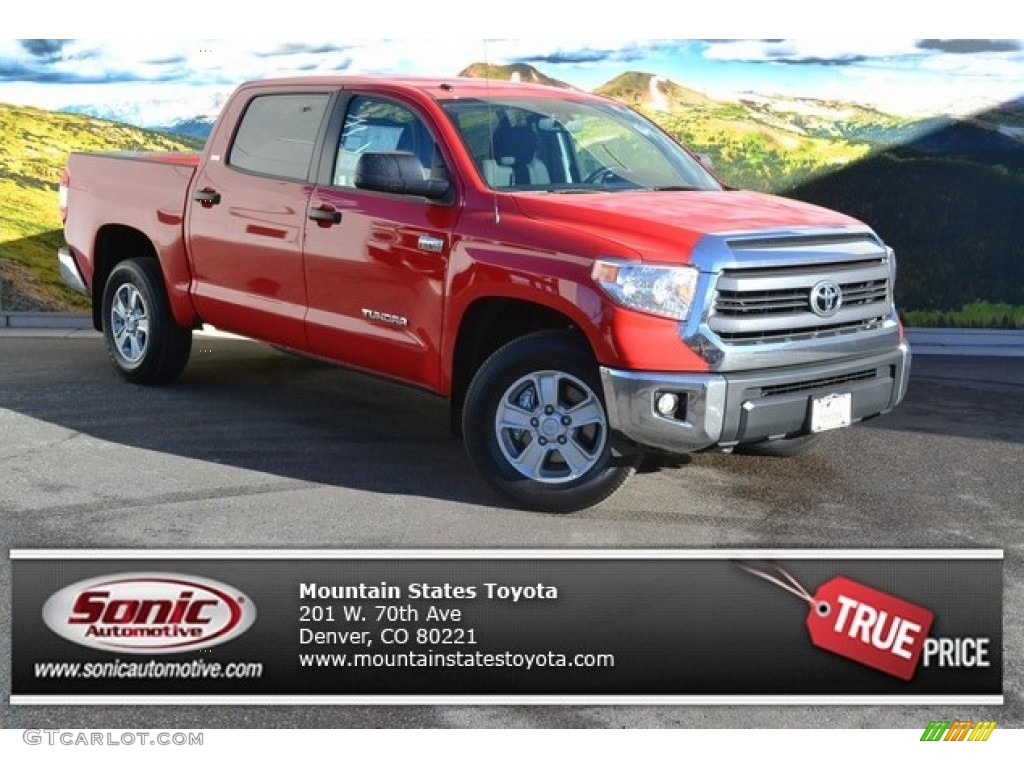 2014 Tundra SR5 Crewmax 4x4 - Radiant Red / Graphite photo #1
