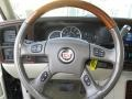 2004 Cadillac Escalade Shale Interior Steering Wheel Photo
