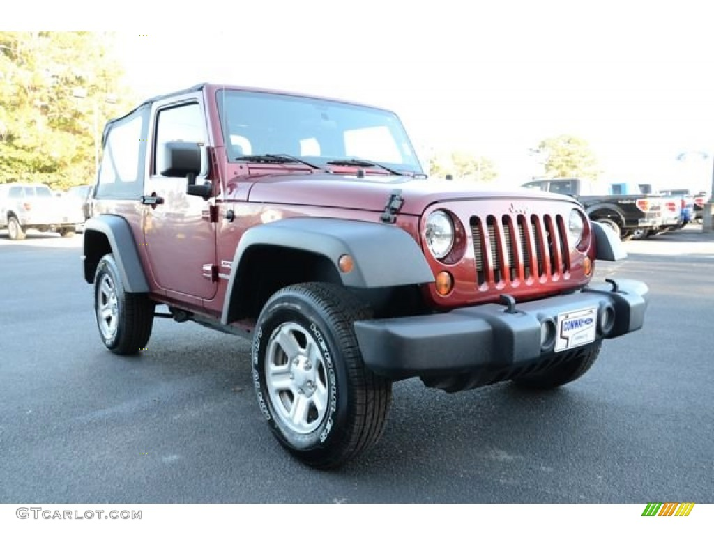 2012 Wrangler Sport 4x4 - Deep Cherry Red Crystal Pearl / Black photo #3