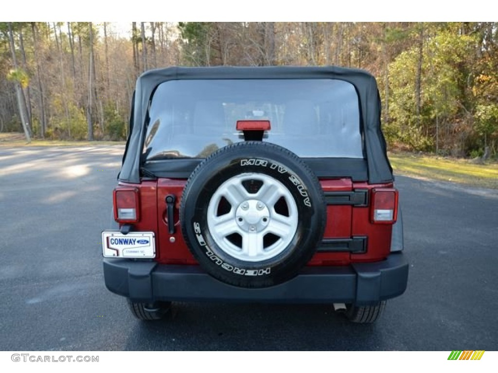 2012 Wrangler Sport 4x4 - Deep Cherry Red Crystal Pearl / Black photo #6