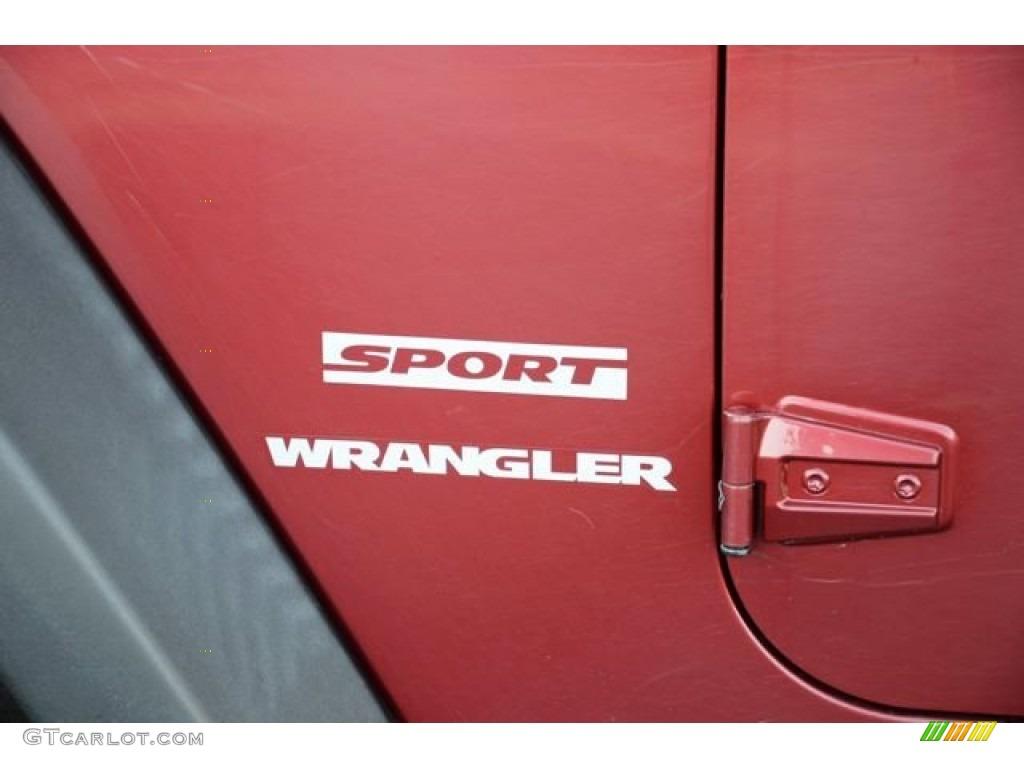 2012 Wrangler Sport 4x4 - Deep Cherry Red Crystal Pearl / Black photo #9