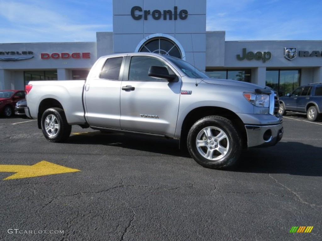 2011 Tundra SR5 Double Cab 4x4 - Silver Sky Metallic / Graphite Gray photo #1