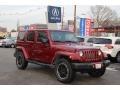 Deep Cherry Red Crystal Pearl 2012 Jeep Wrangler Unlimited Sahara 4x4