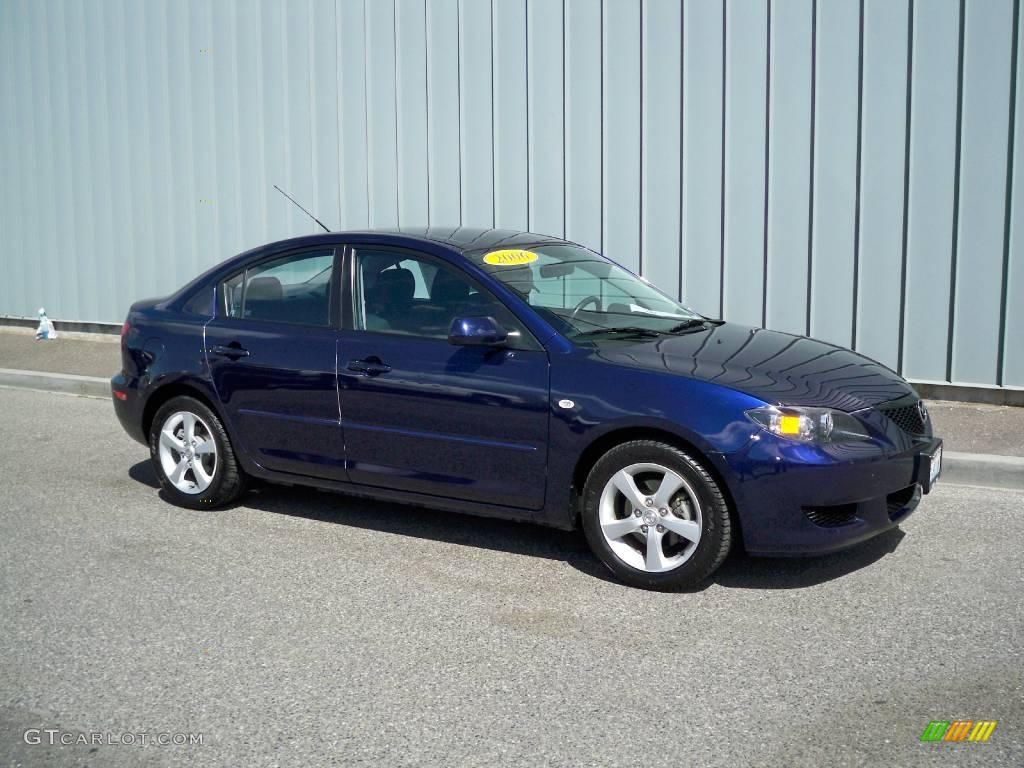 2006 strato blue mica mazda mazda3 i sedan 8843894. Black Bedroom Furniture Sets. Home Design Ideas