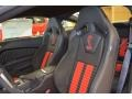 2014 Ford Mustang Shelby Charcoal Black/Red Accents Recaro Sport Seats Interior Front Seat Photo