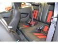 2014 Ford Mustang Shelby Charcoal Black/Red Accents Recaro Sport Seats Interior Rear Seat Photo