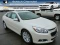 White Diamond Tricoat 2014 Chevrolet Malibu LT