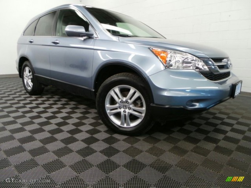 2011 CR-V EX-L 4WD - Glacier Blue Metallic / Gray photo #1