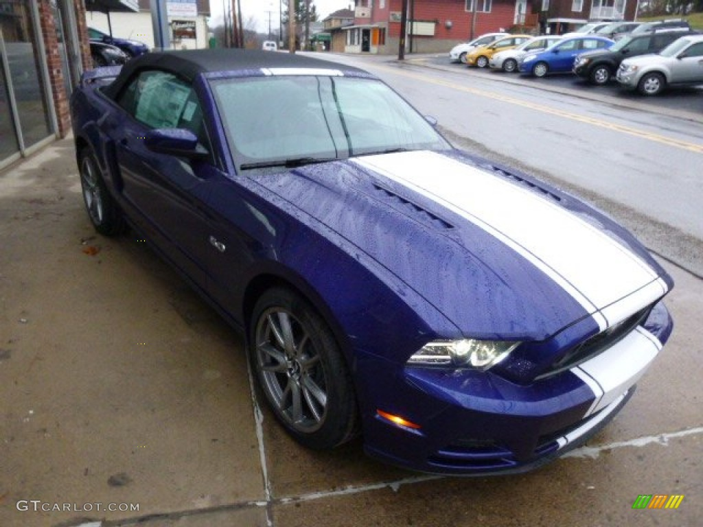 2014 deep impact blue ford mustang gt premium convertible. Black Bedroom Furniture Sets. Home Design Ideas