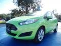 2014 Green Envy Ford Fiesta SE Sedan #89140868