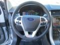 SEL Appearance Charcoal Black Leather/Gray Alcantara Steering Wheel Photo for 2014 Ford Edge #89145774