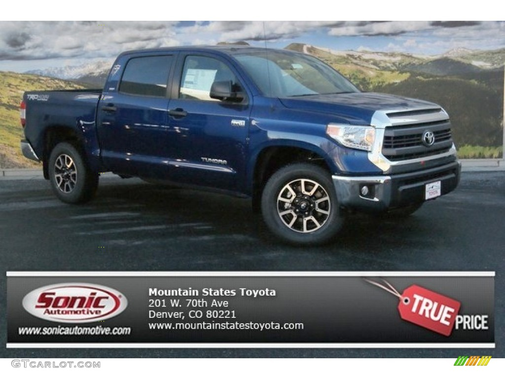 2014 Tundra SR5 Crewmax 4x4 - Blue Ribbon Metallic / Black photo #1