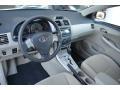 Bisque 2012 Toyota Corolla Interiors