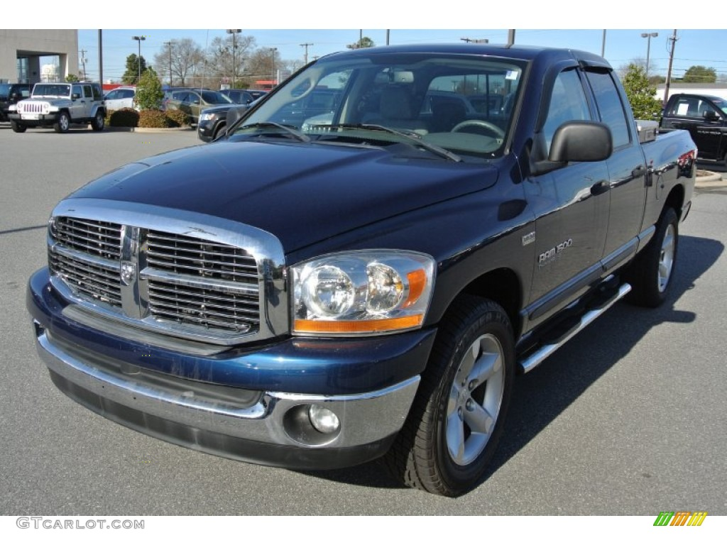2006 Ram 1500 SLT Quad Cab - Patriot Blue Pearl / Medium Slate Gray photo #1