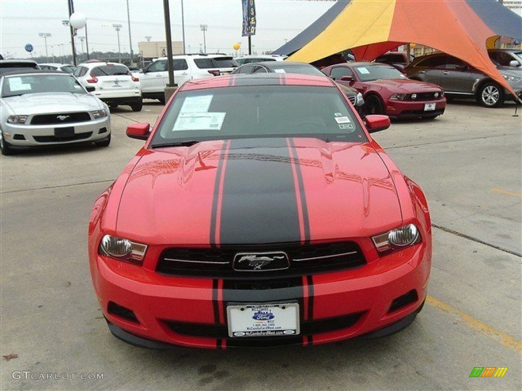 2011 Mustang V6 Premium Coupe - Race Red / Stone photo #1