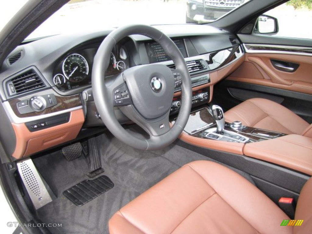 Cinnamon Brown Interior 2013 Bmw 5 Series 535i Sedan Photo 89224647