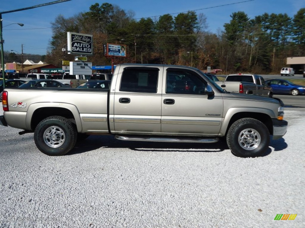 2002 Silverado 1500 LS Crew Cab 4x4 - Light Pewter Metallic / Graphite Gray photo #2