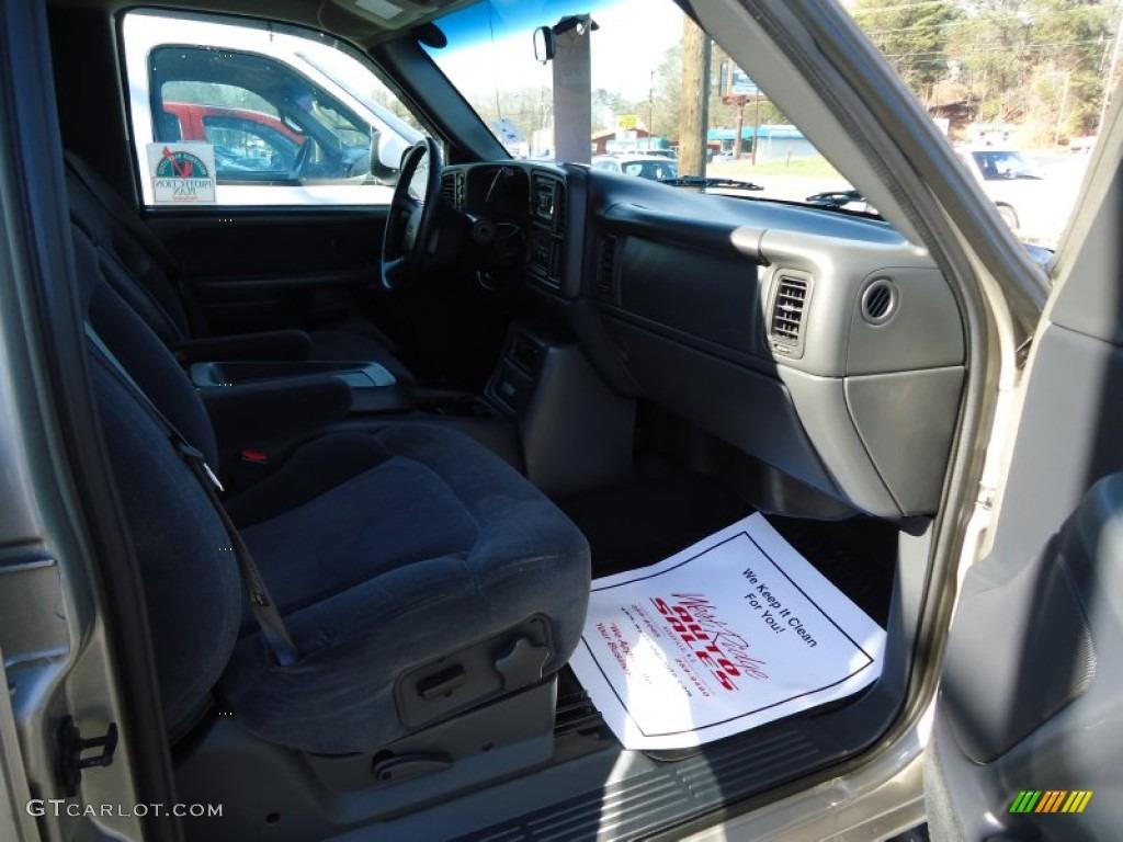 2002 Silverado 1500 LS Crew Cab 4x4 - Light Pewter Metallic / Graphite Gray photo #11