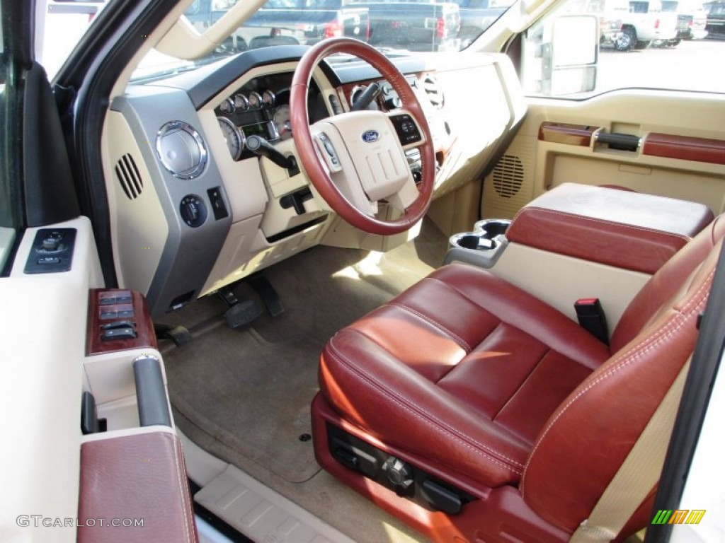 Chaparral Brown Interior 2008 Ford F350 Super Duty King Ranch Crew Cab Dually Photo 89244328