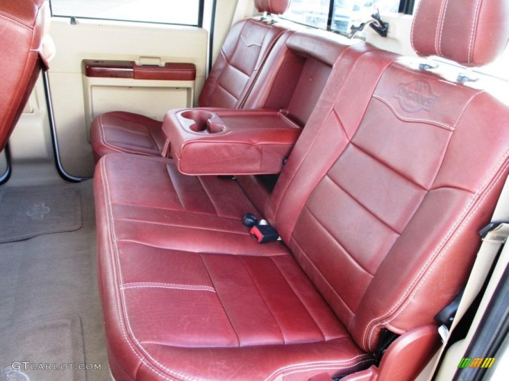 2008 Ford F350 Super Duty King Ranch Crew Cab Dually Rear Seat Photos