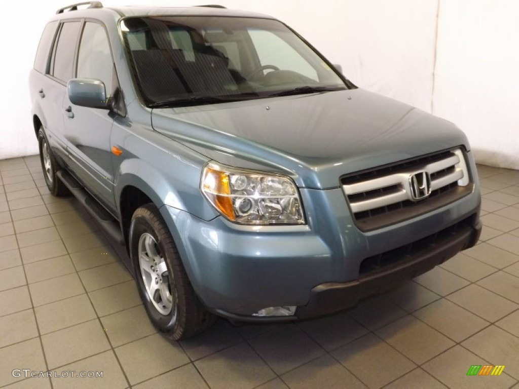 Steel Blue Metallic 2007 Honda Pilot Ex L Exterior Photo