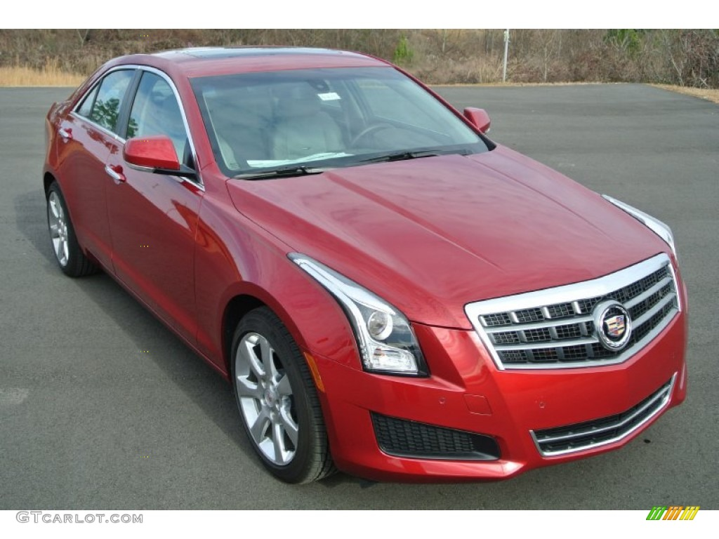 2013 Crystal Red Tintcoat Cadillac Ats 2 5l Luxury 89265397 Car Color Galleries