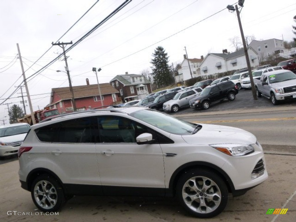 2014 Escape Titanium 2.0L EcoBoost 4WD - White Platinum / Charcoal Black photo #4