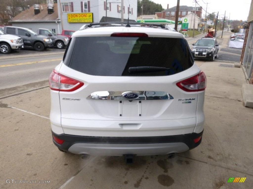 2014 Escape Titanium 2.0L EcoBoost 4WD - White Platinum / Charcoal Black photo #5