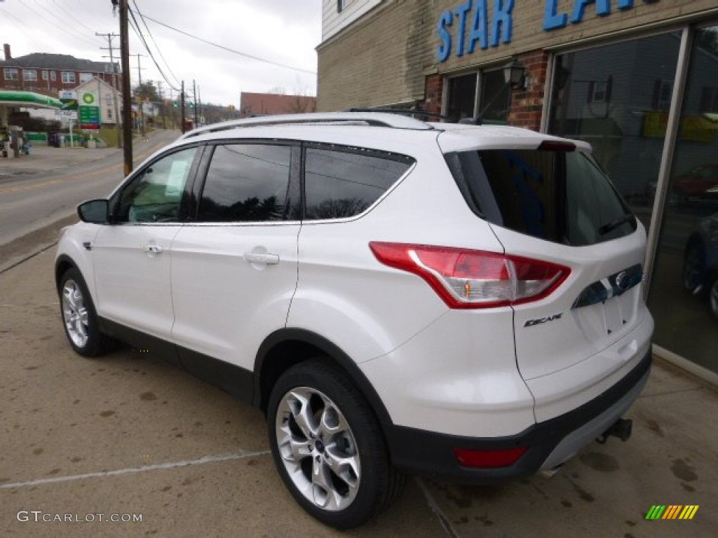2014 Escape Titanium 2.0L EcoBoost 4WD - White Platinum / Charcoal Black photo #6