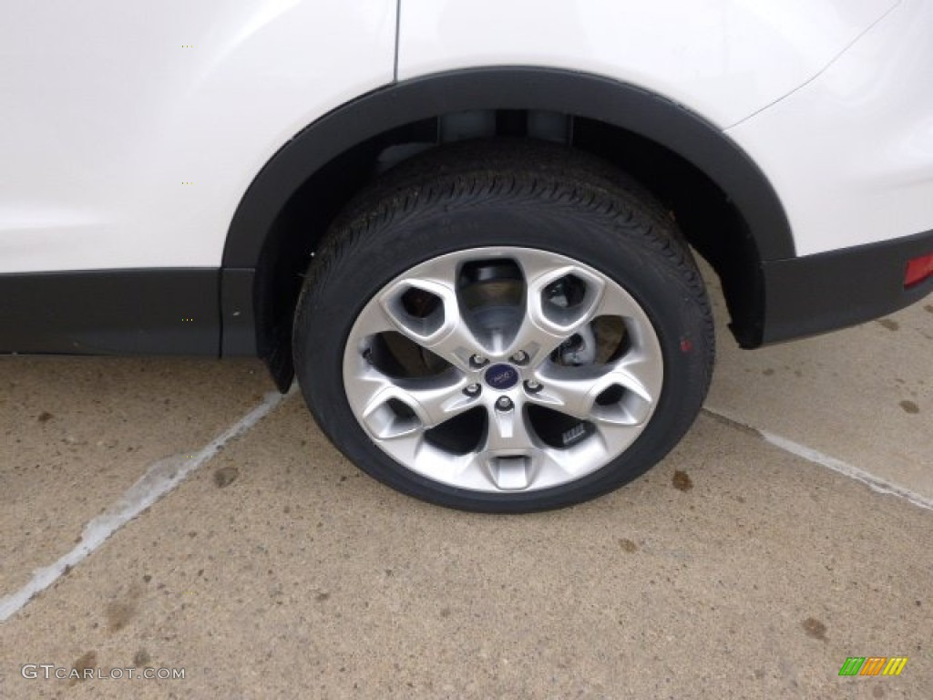 2014 Escape Titanium 2.0L EcoBoost 4WD - White Platinum / Charcoal Black photo #8