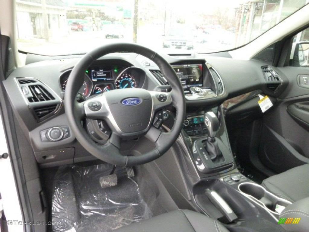 2014 Escape Titanium 2.0L EcoBoost 4WD - White Platinum / Charcoal Black photo #13